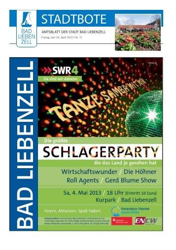 Bad Liebenzell KW 17 ID 63533 - Stadtverwaltung - Bad Liebenzell