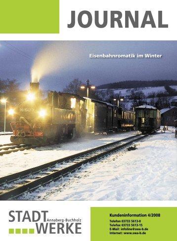 Eisenbahnromatik im Winter - Stadtwerke Annaberg-Buchholz