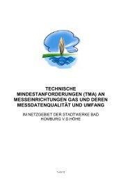 Technische Mindestanforderungen an Messeinrichtungen