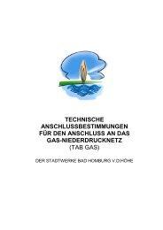 Technische Anschlussbestimmungen Gas TAB - Stadtwerke Bad ...
