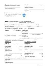 Antrag auf Herstellung eines Erdgas - Stadtwerke Bad Homburg