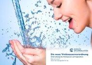 Flyer Untersuchung des Trinkwassers auf Legionellen