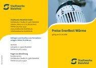Preise EnerBest Wärme - Stadtwerke Bielefeld