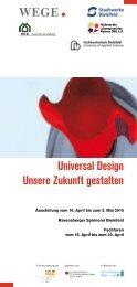 Universal Design Unsere Zukunft gestalten - ZIG