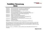 Preisblatt Netznutzungsentgelte Strom ab 01.01.2010 - Stadtwerke ...
