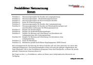 Preisblatt Netznutzungsentgelte Strom ab 01.01.2011 - Stadtwerke ...