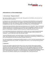 Informationen zu Fotovoltaikanlagen - Stadtwerke Bliestal