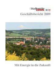 Geschäftsbericht 2009 Mit Energie in die Zukunft - Stadtwerke Bliestal