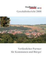 Geschäftsbericht 2008 - Stadtwerke Bliestal