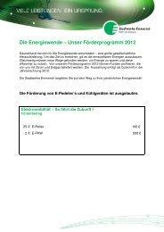 Die Energiewende – Unser Förderprogramm 2012 - Stadtwerke ...