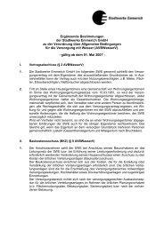 Ergänzende Bestimmungen der AVB Wasser - Stadtwerke Emmerich