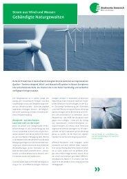 Kundeninformation: Strom aus Wind und Wasser - Stadtwerke ...