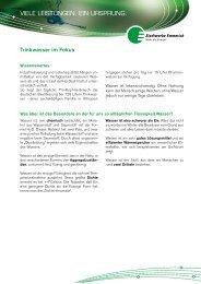 Kundeninformation: Trinkwasser im Fokus - Stadtwerke Emmerich