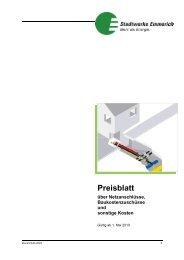 Preisblatt - Stadtwerke Emmerich