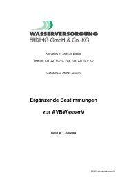 Ergänzende Bestimmungen zur AVBWasserV - Stadtwerke Erding ...