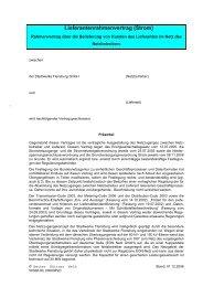 Lieferantenrahmenvertrag (Strom) - Stadtwerke Flensburg