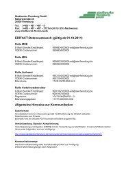 Kommunikationsdaten - Anlage 1 - Stadtwerke Flensburg