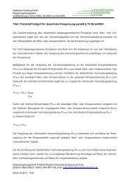 Preisblatt Entgelt für dezentrale Einspeisung - Stadtwerke Flensburg