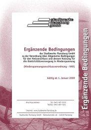 Ergänzende Bedingungen - Stadtwerke Flensburg