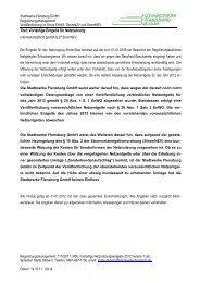 Ihre Nachricht vom: 11 - Stadtwerke Flensburg