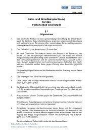 Badeordnung - Stadtwerke Glückstadt GmbH