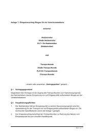 Kooperationsvereinbarung zwischen den Betreibern von in ...