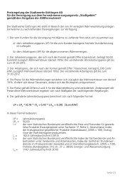 Tarif Stadtgebiet - Stadtwerke Göttingen AG