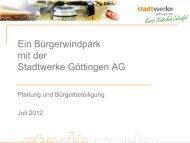 Präsentation Bürgerwindpark - Stadtwerke Göttingen AG