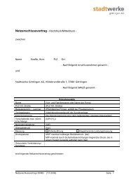 Netzanschlussvertrag Mittel-/Hochdruck - Stadtwerke Göttingen AG
