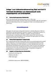 Datenaustausch und Ansprechpartner - Stadtwerke Göttingen AG