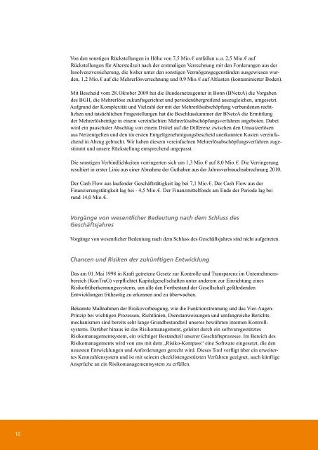 Stadtwerke Göttingen AG Geschäftsbericht 2010