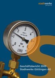 Geschäftsbericht 2009 Stadtwerke Göttingen AG
