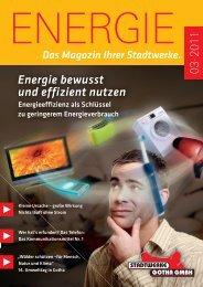 Energie bewusst und effizient nutzen - Stadtwerke Gotha
