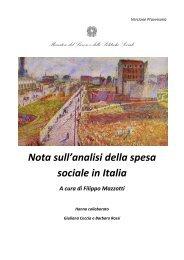Nota sull'analisi della spesa sociale in Italia - Ministero del Lavoro e ...