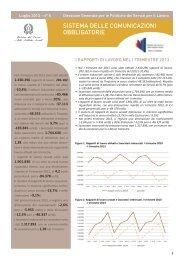 nota I trimestre 2013 - Ministero del lavoro, salute e politiche sociali