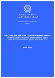Relazione anno 2012 - ClicLavoro