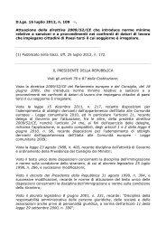 D.Lgs. 16 luglio 2012, n. 109 (1). Attuazione della ... - ClicLavoro