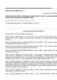D.Lgs. 9 aprile 2008, n. 81 (1). Attuazione dell'articolo 1 ... - ClicLavoro