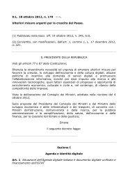D.L. 18 ottobre 2012, n. 179 (1) Ulteriori misure urgenti ... - ClicLavoro
