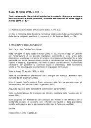 D.Lgs. 26 marzo 2001, n. 151 (1). Testo unico delle ... - ClicLavoro