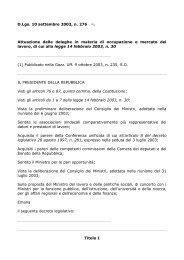 D.Lgs. 10 settembre 2003, n. 276 (1). Attuazione delle ... - ClicLavoro