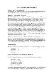 Referat af DOPS generalforsamling 2006