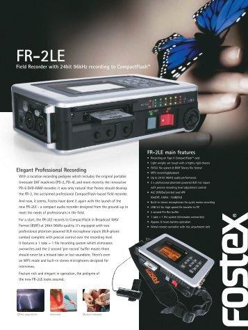 FR-2LE Brochure - Fostex
