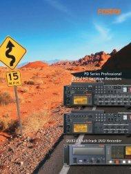 PD Series Professional DVD / HD Location Recorders ... - Sennheiser