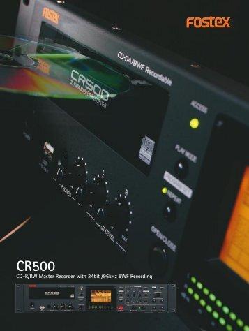 CR500 Brochure - Fostex