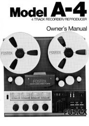 Owners Manual - Fostex