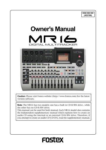 mr 8hd cd supplementary manual how to use the cd r fostex rh yumpu com