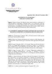 Repertorio Atti n. 1824 del 23 settembre 2003 CONFERENZA ...