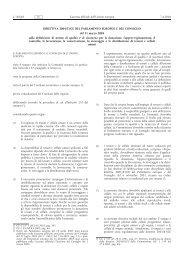 DIRETTIVA 2004/23/CE DEL PARLAMENTO EUROPEO ... - EUR-Lex