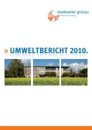 UMWELTBERICHT 2010. - Stadtwerke Gronau GmbH